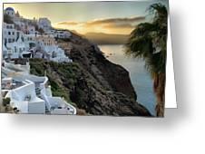 Sunrise On Santorini Greeting Card