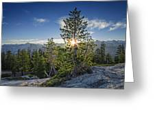Sunrise On Sentinel Dome Greeting Card