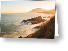 Sunrise On The Cantabrian Coast In Muskiz Greeting Card