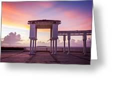 Sunrise On The Caribbean Greeting Card