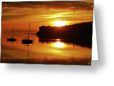 Sunrise On The Cove Greeting Card