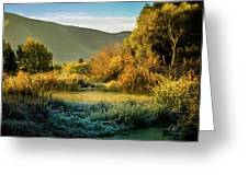 Sunrise On The Duck Marsh Greeting Card