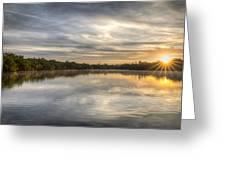 Sunrise On The Flats Greeting Card