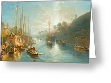 Sunrise On The Grand Canal Greeting Card