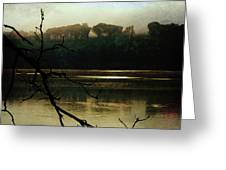 Sunrise On The Hudson River, No. 14 Greeting Card