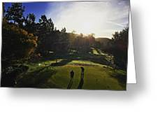 Sunrise On The Links Greeting Card