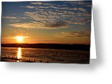Sunrise On The Mississippi Greeting Card