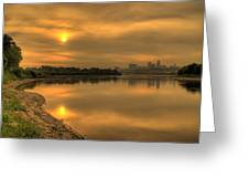 Sunrise On The Missouri River Greeting Card
