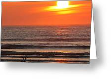 Sunrise On The Oceanside Greeting Card