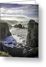 Sunrise On The Pacific Coast Greeting Card