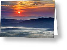 Sunrise On The Parkway. Greeting Card