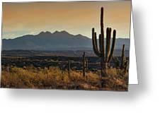 Sunrise On The Peaks Greeting Card