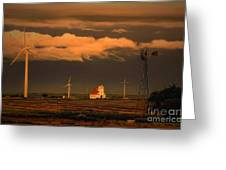 Sunrise On The Prairie Greeting Card