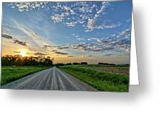 Sunrise On The Road Greeting Card