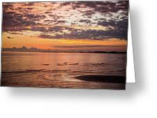 Sunrise On The Shore  Greeting Card