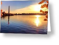 Sunrise On The Tidal Basin Greeting Card