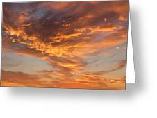 Sunrise Orange Sky, Willamette National Forest, Oregon Greeting Card