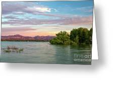 Sunrise Over A Colorado Lake  Greeting Card