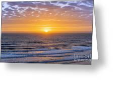 Sunrise Over Atlantic Ocean Greeting Card