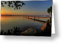 Sunrise Over Cayuga Lake Greeting Card by Everet Regal