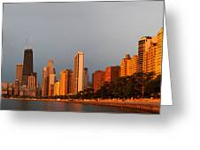 Sunrise Over Chicago Greeting Card