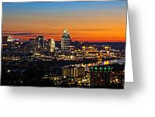 Sunrise Over Cincinnati Greeting Card