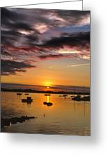 Sunrise Over City Island Greeting Card