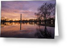 Sunrise Over Constitution Gardens Greeting Card