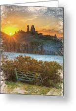 Sunrise Over Corfe Greeting Card