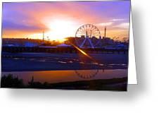 Sunrise Over Del Mar Fair Greeting Card