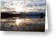 Sunrise Over Flooded Field In Bow Greeting Card
