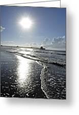 Sunrise Over Folly Beach Pier Greeting Card