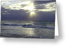 Sunrise Over Gulf Of Mexico Greeting Card