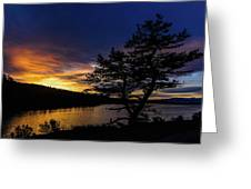 Sunrise Over Hauser Greeting Card