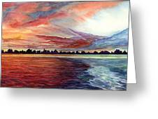 Sunrise Over Indian Lake Greeting Card