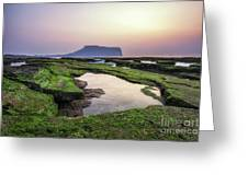 Sunrise Over Jeju Island Greeting Card