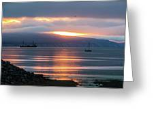 Sunrise Over Kachemak Bay Greeting Card