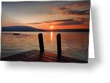 Sunrise Over Keuka IIi Greeting Card by Steven Ainsworth
