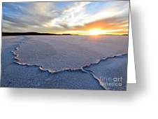 Sunrise Over Lake Gairdner, Greeting Card