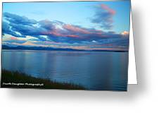 Sunrise Over Lake Yellowstone Greeting Card