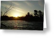 Sunrise Over Mississippi River Greeting Card