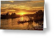 Sunrise Over  Payette River Greeting Card