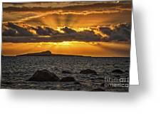 Sunrise Over Rabbit Head Island Greeting Card