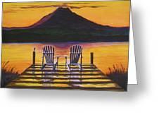 Sunrise Over Rainier Greeting Card