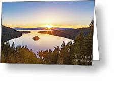 Sunrise Over The Bay Greeting Card