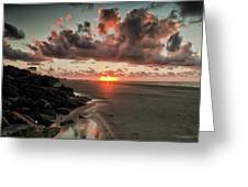 Sunrise Over The Beach Greeting Card