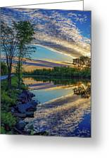 Sunrise Over The Champlain Canal Greeting Card