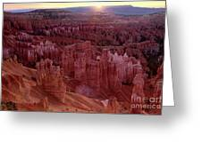 Sunrise Over The Hoodoos Bryce Canyon National Park Greeting Card by Dave Welling