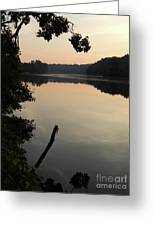 Sunrise Over The Huron River Greeting Card
