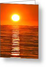 Sunrise Over The Lake 2 Greeting Card